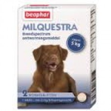 Beaphar Milquestra dog wormer - 2 beef flavoured tablets