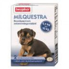 Beaphar Milquestra dog wormer for small dogs and puppies - flavoured tablets