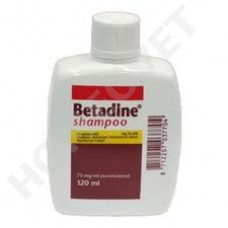 Betadine Shampoo for disinfecting the skin