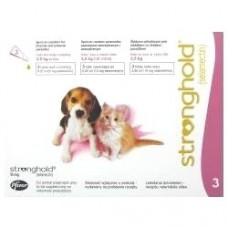 Stronghold puppies & kittens to 2.5 kg kills Fleas, Worms, Ear Mite.